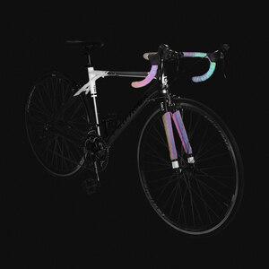 Image 3 - כביש אופני Noctilucent כידון קלטות אור רעיוני לסנוור רכיבה על אופניים בר קלטת MTB עור מפוצל צבעוני אופניים מזלג גריפ קלטת