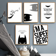 COLORFULBOY Super Hero Batman Modern Black White Wall Art Canvas Painting Posters And Prints Pictures For Living Room