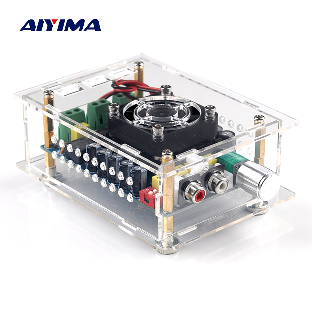 Aiyima TDA7498 Digital Amplifier Board 2X100W Dual Channel Class D Audio Amplifier Board Home Theater and Car Amplifiers aiyima hi fi pam8610 audio amplifier board 15w 2 class d dual channel digital amplifier board dc12v