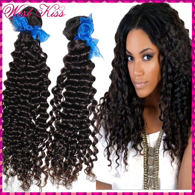 Raw Hair Samples 2pcs Tight curly Wefts 100% Temple Indian remy ...