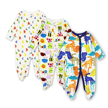 Set of 3 Pajamas for Infants and Babies with Cartoony Prints