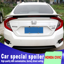 brake red light high quality spoilers for 2016 to 2018 honda civic ABS material spoiler DIY paint by air Acceleration stability цена