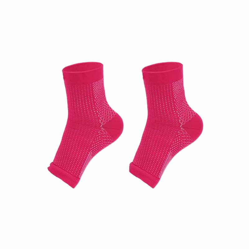 1pcs Foot Compression Sleeve Anti Plantar Support Ankle Angel Socks Sports Protector Basketball Soccer Ankle Support Relief