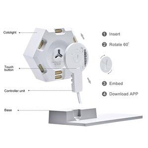 Image 4 - Lifesmart FAI DA TE Quantum Luce di Notte Geometria Montaggio USB Lampada di Notte Intelligente App di Controllo Vocale Per Google Casa Amazon Alexa Lampada