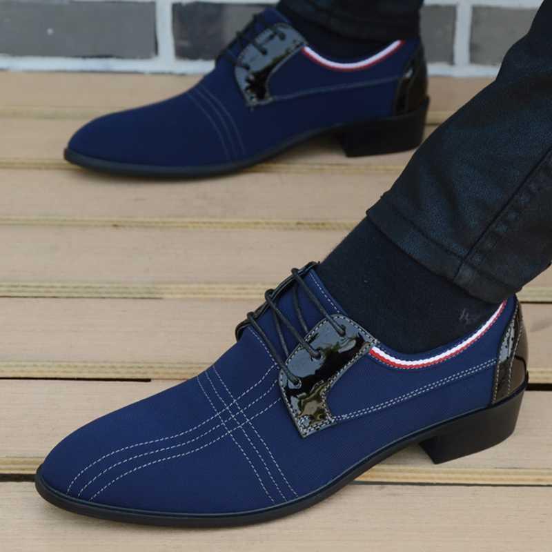 Italiaanse heren schoenen mode zwarte mannen lederen mocassin puntschoen classic mannen trouwschoenen sapatos masculino