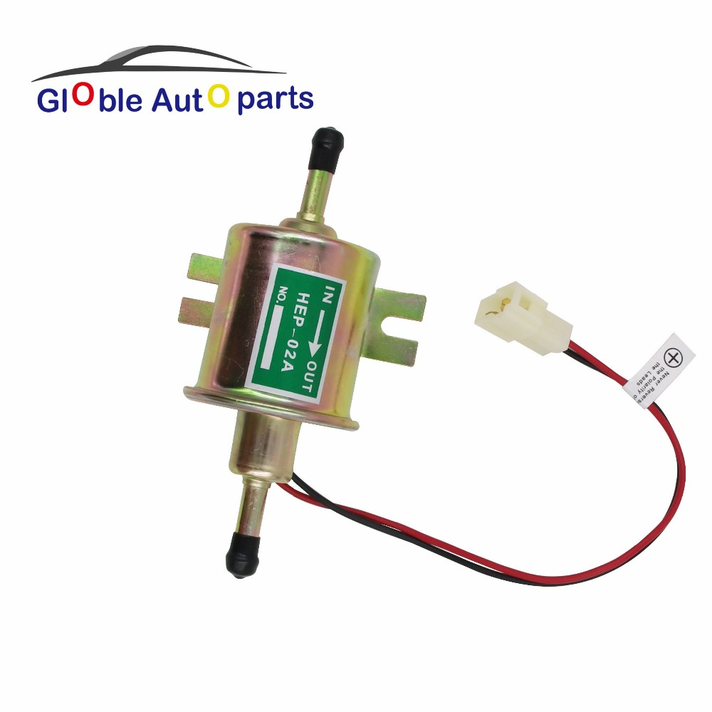 For most car Carburetor Motorcycle ATV 12V low pressure electric fuel pump Universal Gas Diesel Inline HEP-02A