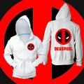 Deadpool camisola hoodies homens inverno Casual algodão puro meninos hoodies Moda Normal o-pescoço engrossar homens casaco com capuz zipper homme
