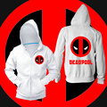 Deadpool hoodies sweatshirt men winter pure cotton Casual boys hoodies Fashion Normal o-neck thicken men zipper hoody homme