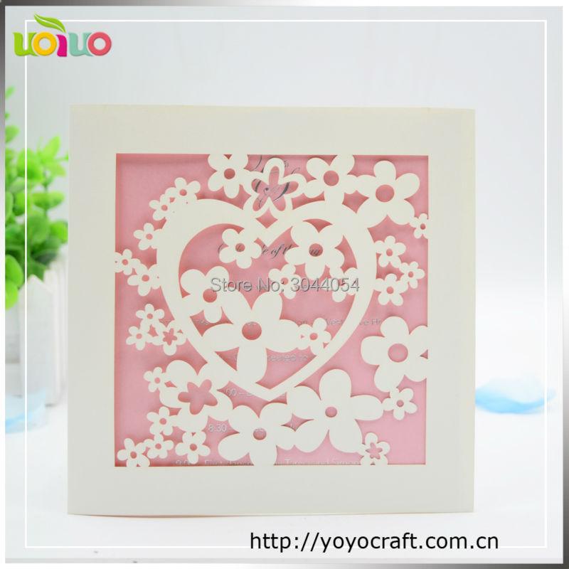 bautismo favores sencilla del la tarjeta de invitacin de la boda diseo de la flor cuadrada barato para imprimir t
