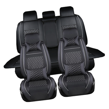 Black PU Leather Car Seat Cover Full Set Seat Cushion Mat Protector (Fits: Seat)For Besturn B50 B70 B90 X80 B30