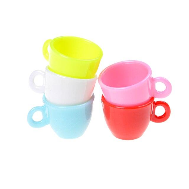 Beau 5pcs Doll House Kitchen Toy Tableware Miniature Mini Coffee Tea Cups Doll  House Toy Doll Accessories