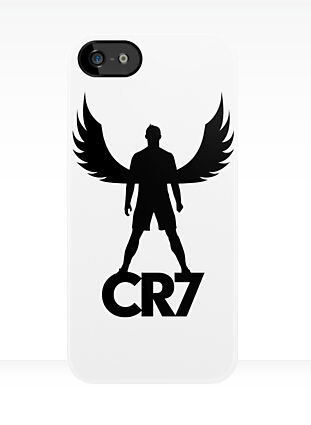 Free shipping custom design Cristiano Ronaldo CR7 angel case cover for iphone 4 4s 5 5s 5c 6 6 plus z4191