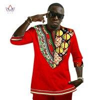 2017 New Hot African National Costume Big Heart Shaped Neck Long Sleeve T Shirt Cotton Batik