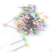 100 шт./пакет булавки смешанные цвета булавки для шитья и пэчворка Цветок голова шпильки Швейные Спицы для вязания искусство Швейные аксессуары галстук