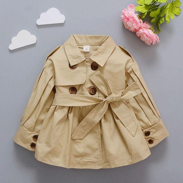 Bebé primavera zanja ropa muchachas de la marca abrigo sólido traje sport clothing para bebé niña chaqueta de alta calidad de la manera 2017