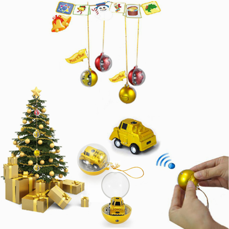LongSun 1/128 CC-301 Christmas Ball Shape Mini RC Car Toy Gift Decor