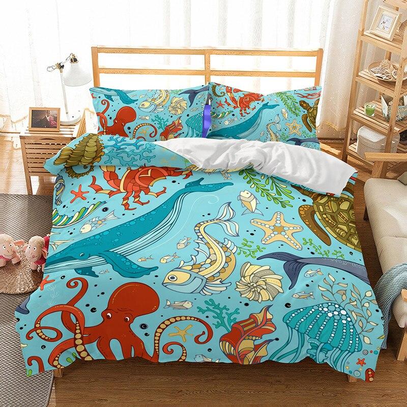 Fanaijia Marine life bedding Sets king size Duvet Cover ...