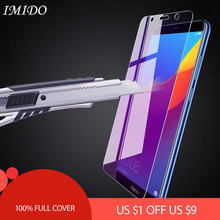 IMIDO Anti Blue Screen Protector for Huawei Honor 7A 7C Pro 5.45 5.7 5.99 Full Cover Tempered Glass Film 7X