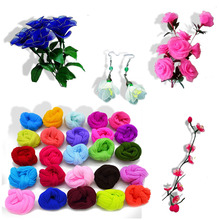 5pcs Multicolor Nylon Stocking Ronde Flower Material Tensile Accessory Handmade Wedding Home DIY