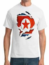 North Korea Ripped Effect Under Shirt - Mens T-Shirt(China)