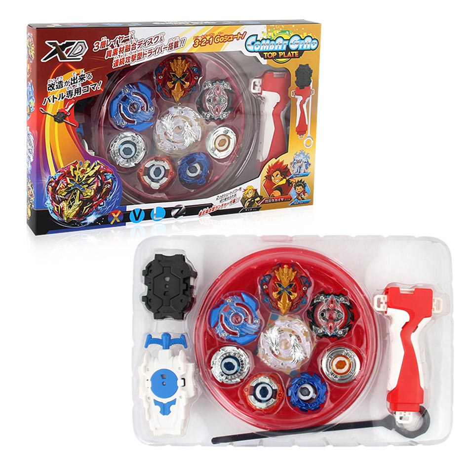 2018 Beyblade Metal Fusion Set 4pcs Beyblades With Launchers Beyblade Arena Constellation Spinning Top 2018 beyblade burst arena set 8 beyblades 4 launchers 4 arena classic toy kids gifts spinner top genuine tomy beyblade pegasus
