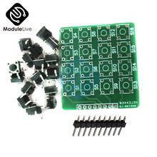 4x4 4*4 4x4 Matrix Teclado Módulo teclado 16 Botton MCU para Arduino Diy kit placa(China)