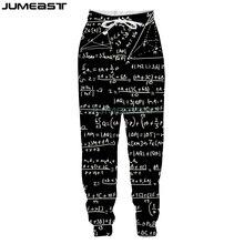 Jumeast New Fashion Math Physics Formula 3D Printed Men/Women Pants Funny Geometric Sport Loose Size Novelty Long