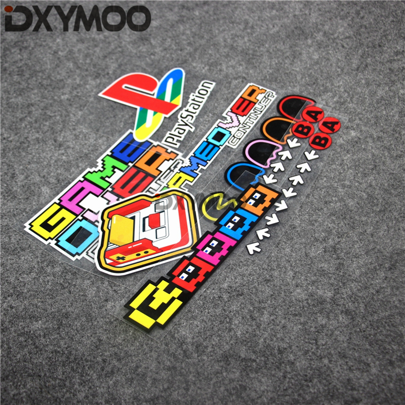 Car Reflective Sticker Decals Game Over for Playstation