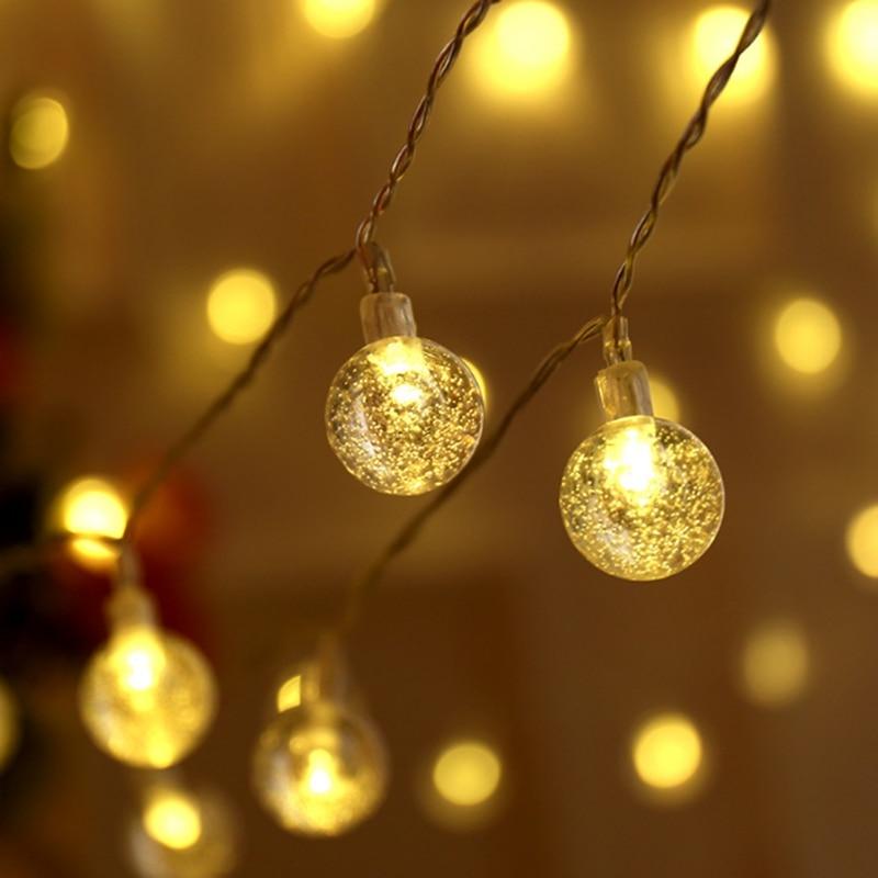 Crystal Globe Bubble Ball String Lights