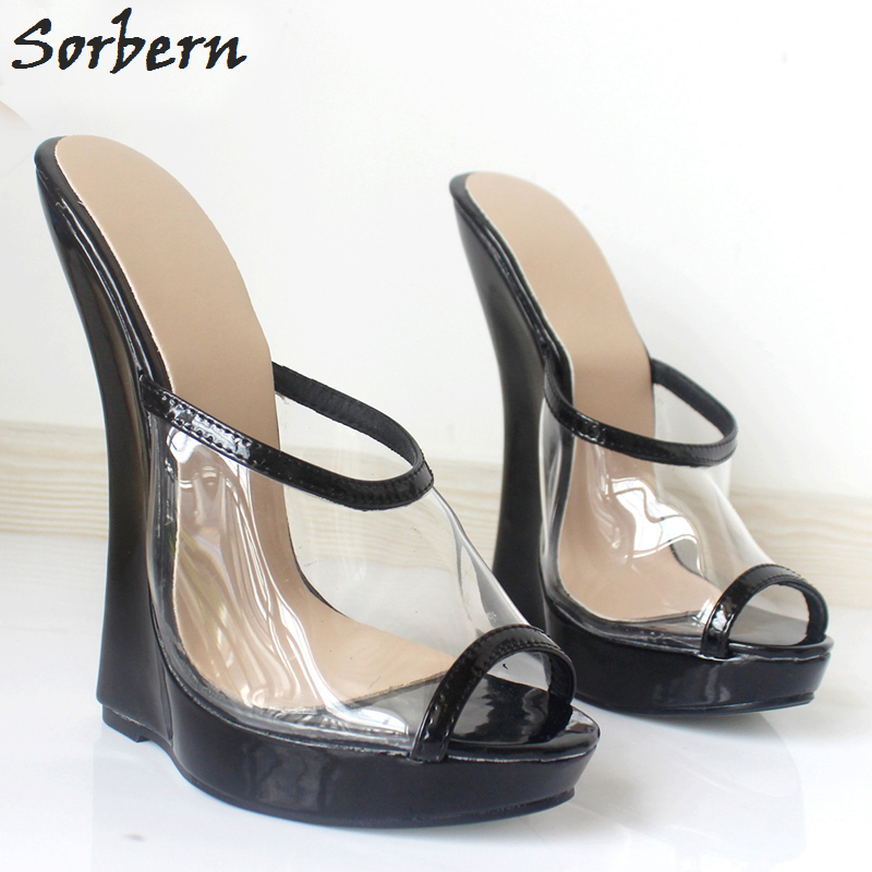 Amicable Sorbern Plus Size Women Sandals Shoes Plus Size 36-46 Pvc Patent Leather Peep Toe Fashion 2018 Slip On Unisex Dance Sandals Shoe Other