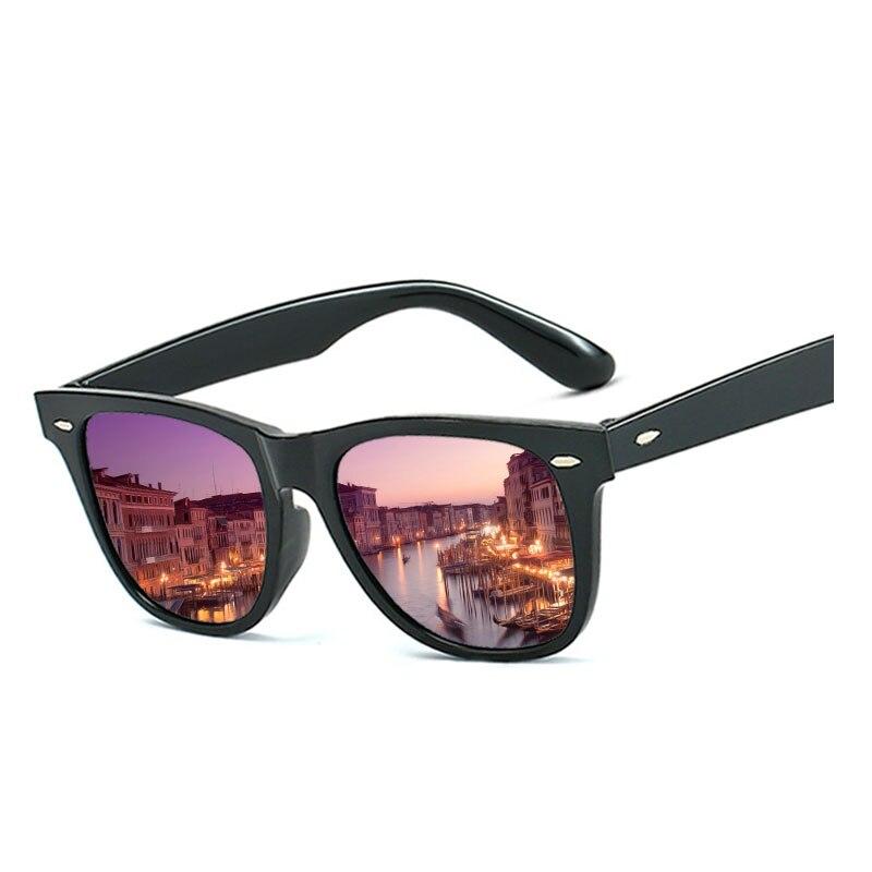 2019 Fashion Anti-Reflective Sunglasses Men/Women Classic Rectangle Black Mirror Sun Glasses For Men's/Women's