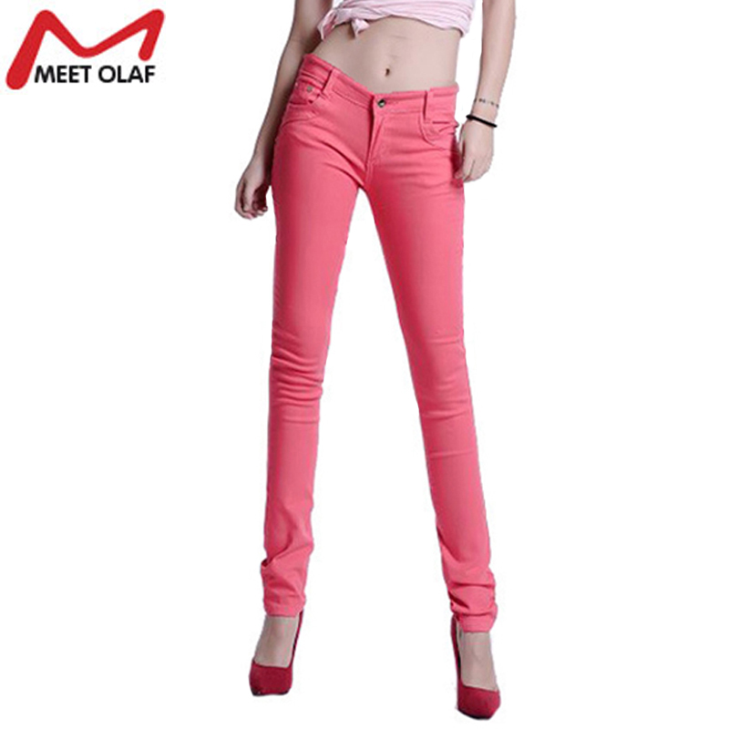 2017 Women Sexy Pencil Pants Spring Autumn Summer Candy ...
