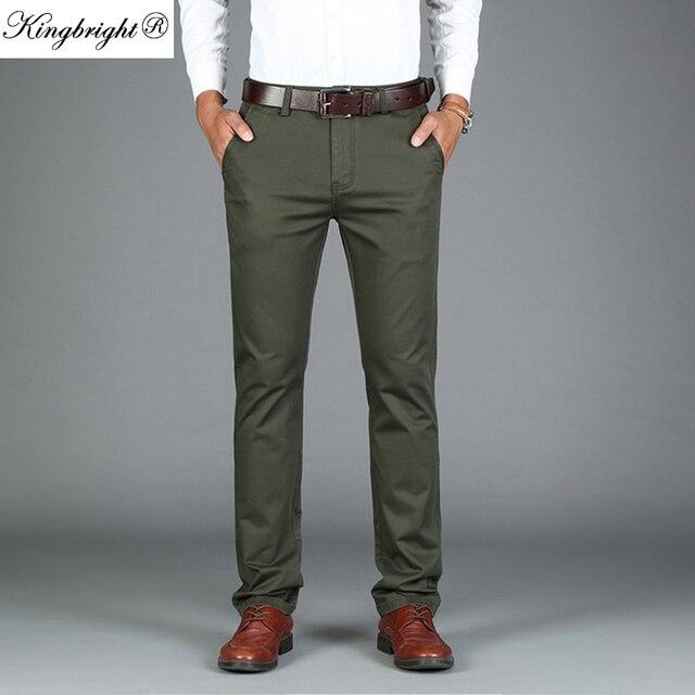 5dac41250d Nuevos Mens Diseñador Heavyweight Pantalones Para Los Hombres de Negocios  Pantalones Casuales Pantalones de Vestir 2