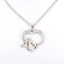 hzew heart shape dog and cat pendant necklace animal friend necklaces gift simple heart husky dog shape pendant necklace for men