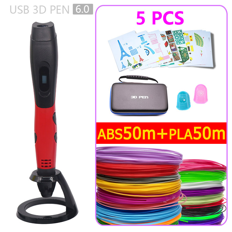 New version 3d pen 3d printer pen USB power supply is safe and convenient with storage bag Child Birthday present christmas gift