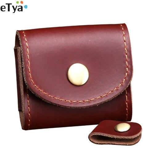 Vintage Coin Bag Man Women Genuine Leather Handmade Fashion 2018 Coin Purses Wallet Headphones Key Holder Pocket Bag Case Lahore