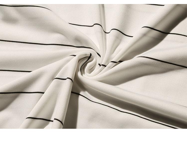 Summer T-shirt Men's Short-sleeved Fashionable Half-sleeved Round-collar Slim Men's Stripe Half-sleeved Clothes MW51 17