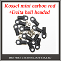 free shipping Reprap Delta Kossel mini 5347 M4 Delta ball headed buckle ball caps parallel arm rod carbon rod joints 12PCS/LOT