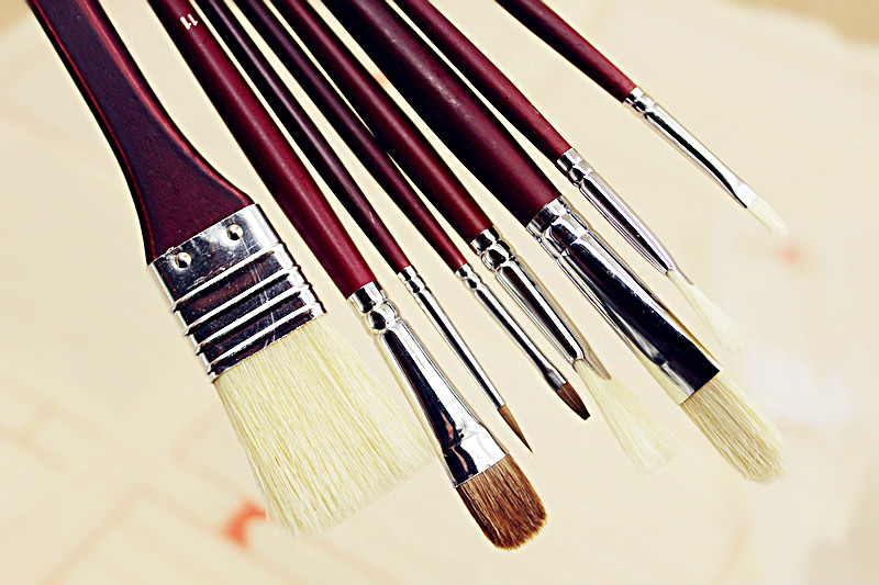 8pcs box gouache watercolor brush fish tail fan shape weasel hair wool pig hair paintbrush Professional oil paint brush artists free shipping holbein artists 15 color solid watercolor paint solid gold box professional level incidental paintbrush
