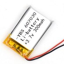 100pcs 3.7v 300 mah li-polímero bateria recarregável 602030 li po íon para gps bluetooth mp3 mp4 mp5 relógio 062030