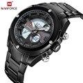 NAVIFORCE Luxury Brand Men Waterproof Full Steel Led Clock Men's Quartz Digital Watches Male Sport Wrist Watch Relogio Masculino
