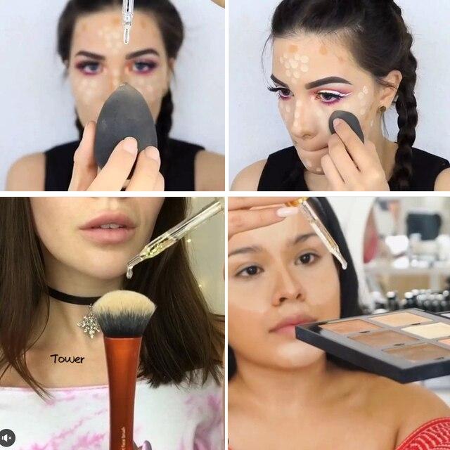 O. DEUX. O Marque Amorce Visage Lèvres Maquillage Hydratant Facile à Absorber Or 24 k Rose Huile Essentielle Visage Base de Maquillage amorce 1