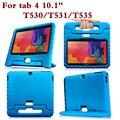 A prueba de golpes tablet pc back case para samsung galaxy tab 4 10.1 t530 t535 t531 universal protector de la cubierta del soporte de la mano