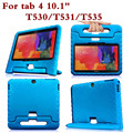Shockproof Tablet PC Back Case For Samsung Galaxy Tab 4 10.1 T530 T535 T531 Universal Protective Hand Holder Cover