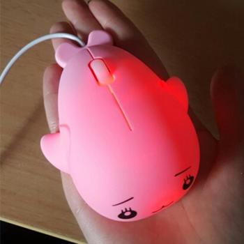 Malloom 2017 Mini 1200 DPI Cute Optical Wired Mouse Professional USB Gaming Mouse gamer for PC Laptop Computer Mice Games Pink เมาส์