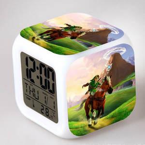 Kids Toy Alarm-Clock Light-Link Zelda Model Action-Figure Touch Color PVC