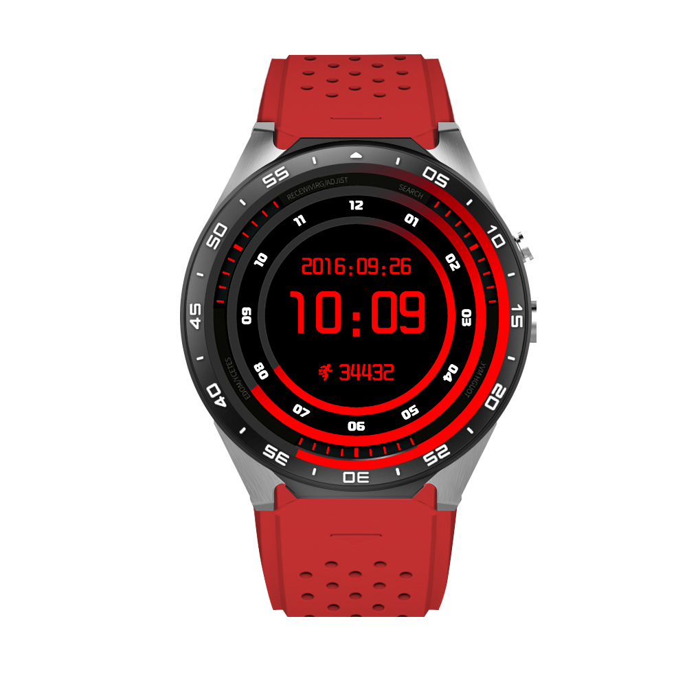Hot Selling KW88 Smart watch for Android 5.1 MTK6580 CPU 1.39 inch 3G Wifi Smartwatch for Samsung Huawei Phone Smart watch
