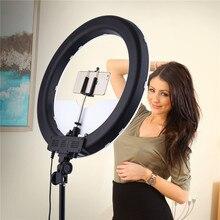 Fosoto RL 18 LED anello luce 18 pollici fotografia illuminazione dimmerabile lampada ad anello con treppiede e specchio Ringlight per trucco Youtube