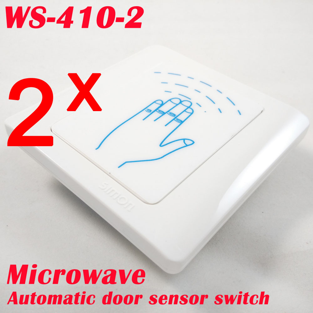 Fast Express Delivery 2 Pcs Microwave Contactless Motion Sensor Switch For Automatic Door Opener