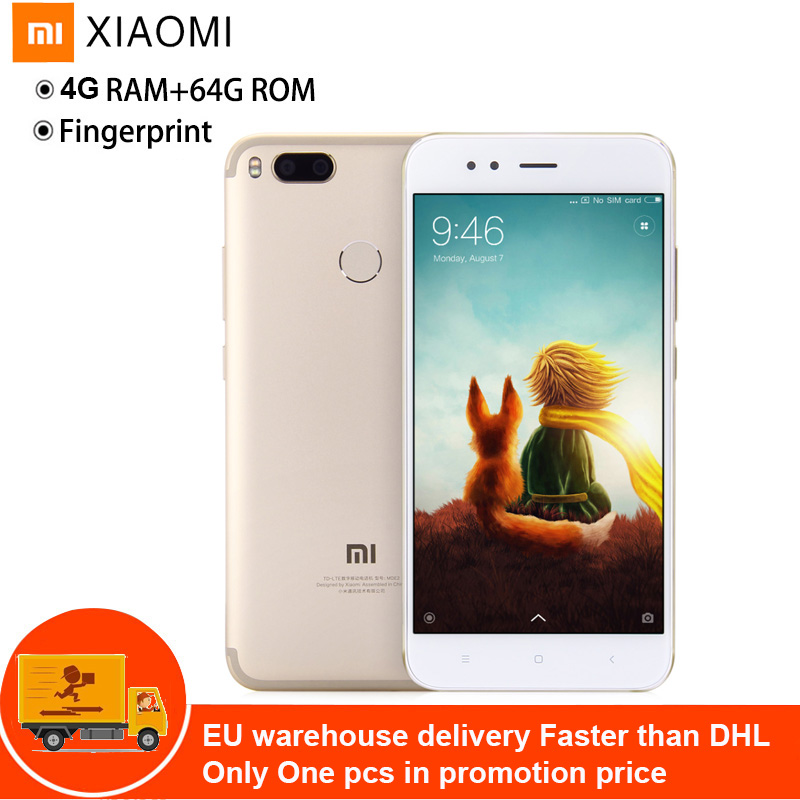 Xiao mi mi 5X4G Phablet téléphone portable intelligent Android 5.5 ''mi UI 8 Snapdragon 625 2 GHz Octa Core 4 GB 64 GB 3080 mAh empreinte digitale